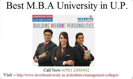 Best M.B.A University in U.P