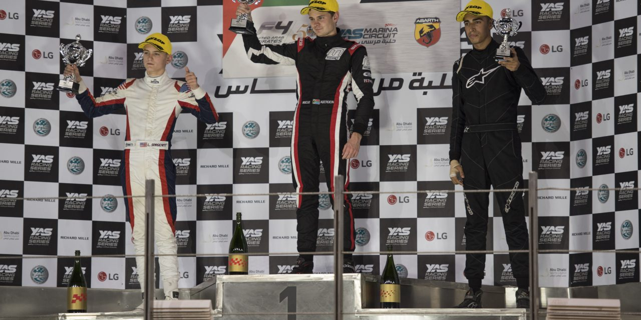RICKY DONISON SCORES A HATRICK OF PODIUMS IN UAE F4