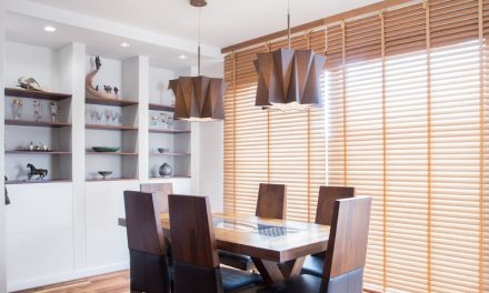 Classic Design of Venetian Blinds Giving Flexible Control of Light and Privacy