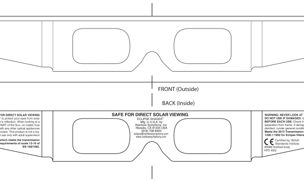 Solar Eclipse Viewing Glasses in Stock and Shipping for August 21st USA Total Solar Eclipse