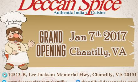 Deccan Spice glad to Announce the New Location in Northern Virginia – Chantilly, VA