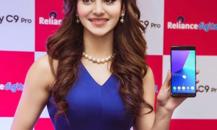 Ravishing Urvashi Rautela wearing Cover Story for the launch of Samsung C9 Pro in Delhi