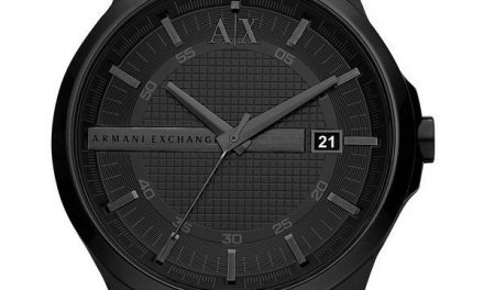 Armani Exchange Black Dial Stainless Steel AX2104 Mens Watch: A Double-Dose Of Dark