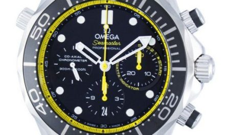 Omega Seamaster Professional Co-Axial Diver's Chronograph Automatic 212.30.44.50.01.002 Men's Watch : Glaring Yellow Does The Job!