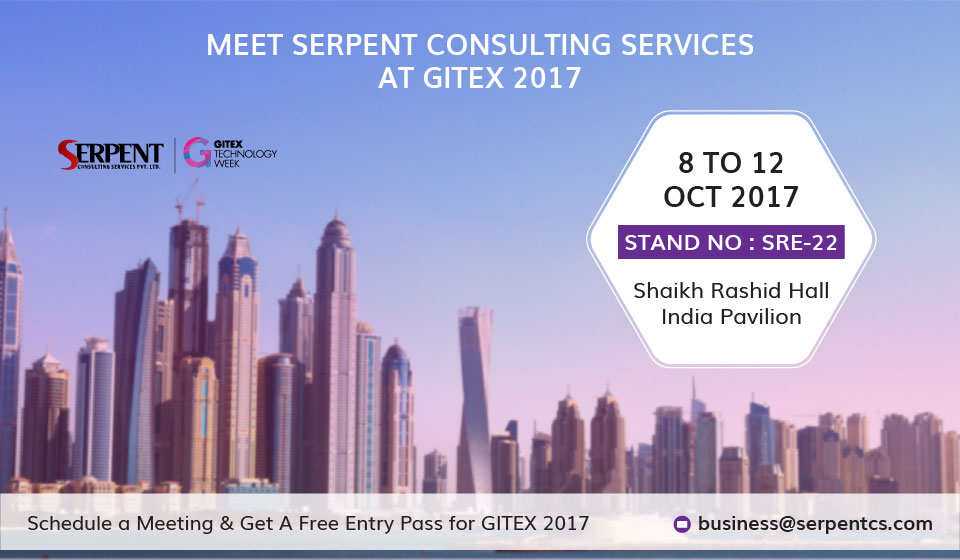 SerpentCS exhibiting their OpenSource solutions and services to meet innovative IT demands at GITEX 2017