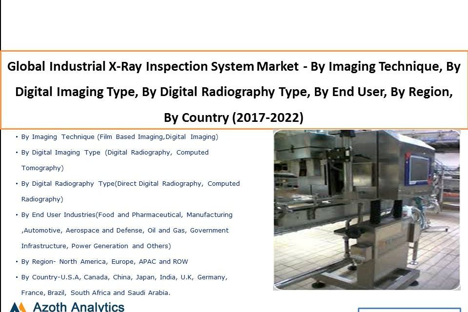 Global Industrial X-Ray Inspection System Market – By Imaging Technique, By Digital Imaging Type, By Digital Radiography Type, By End User, By Region, By Country (2017-2022)