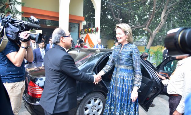 Royal Visit of Her Majesty, The Queen of the Belgians to Fusion Microfinance, India (Nov 7th, 2017)