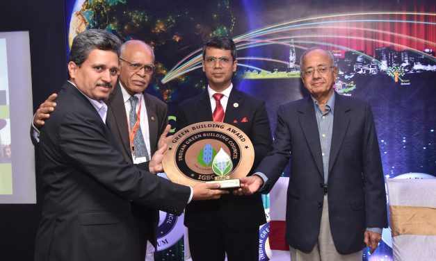 BIEC- Hall 4 conferred with Gold Rating by IGBC