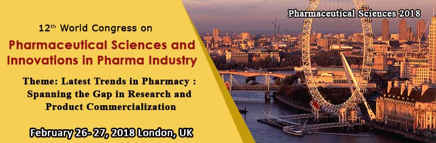 12th World Congress on  Pharmaceutical Sciences & Innovations in Pharma Industry