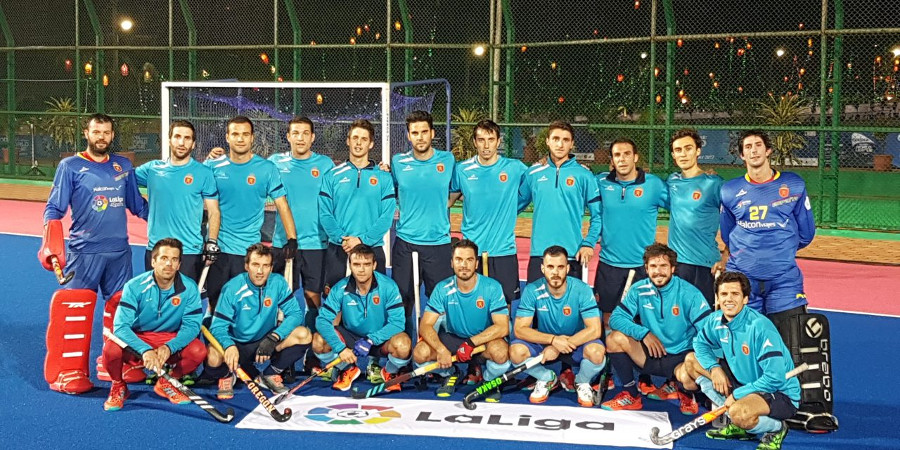 LaLiga in India organised a friendly football match between Spanish and Argentinian national hockey teams