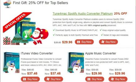 Get 25% off Discount on DRM Removal Tools from Tune4Mac Christmas & New Year Sales