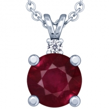 Gemsny.com offers Beautifully Handcrafted Ruby Solitaire Pendants at Affordable Prices