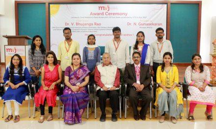 MVJ COLLEGE OF ENGINEERING STUDENTS BAG 1ST RANK IN VTU RESULTS