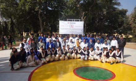 Suzuki Motorcycle India constructs Basketball Court Facility for Darbaripur Govt. School Children