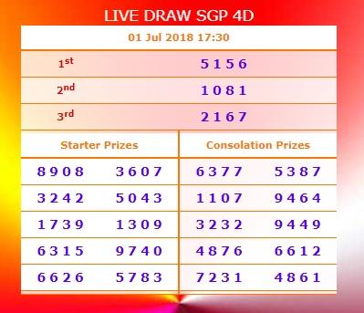 live draw SGP - Webnewswire